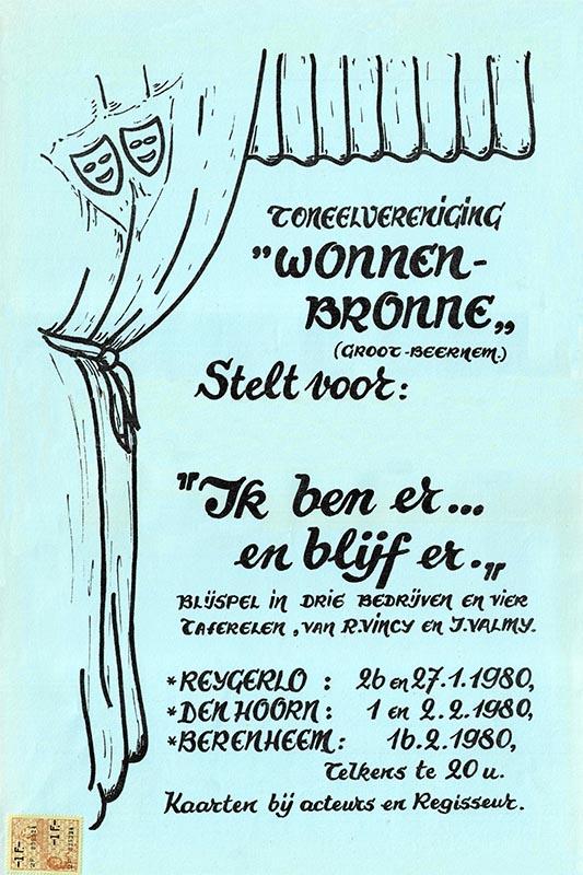 01_Affiche_Ik ben er en ik blijf er_ productie Wonnebronne_voorjaar 1980