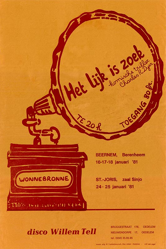 02_Affiche_Het lijk is zoek_productie Wonnebronne_najaar 1980