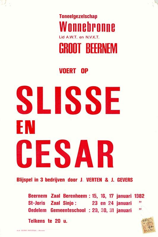 03_Affiche_Slisse en Cesar_productie Wonnebronne_voorjaar 1982