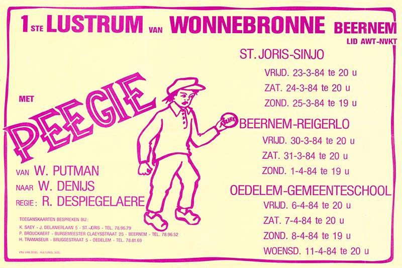 06_Affiche_Peegie_productie Wonnebronne_voorjaar 1984