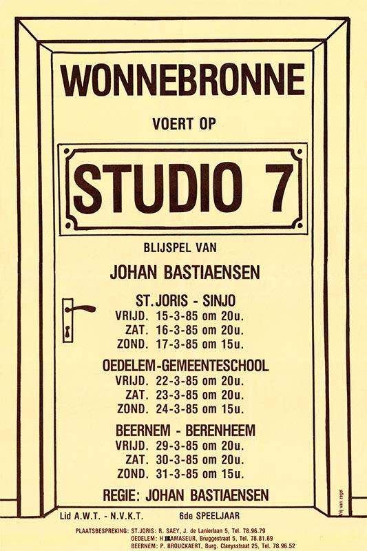 08_Affiche_Studio 7_productie Wonnebronne_voorjaar 1985