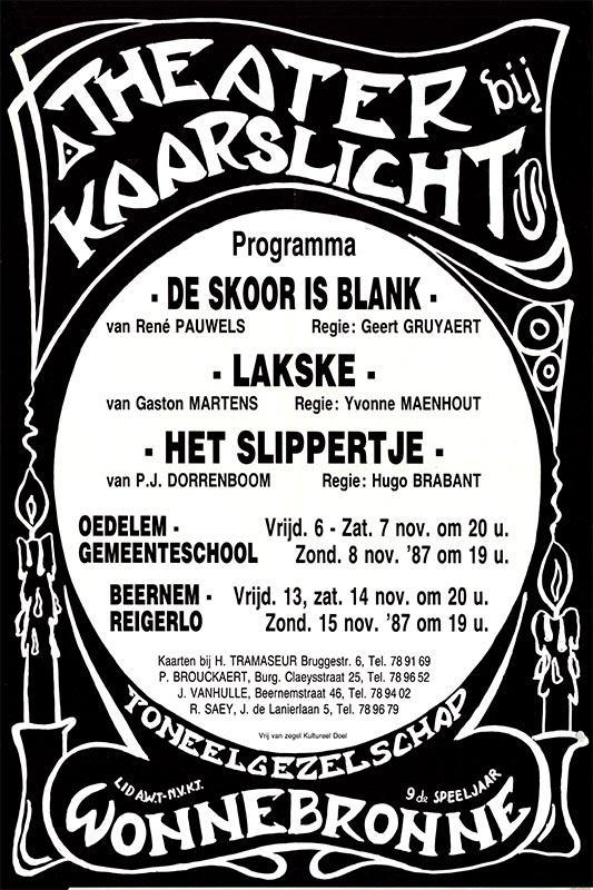 12_Affiche Theater bij Kaarslicht_productie Wonnebronne_najaar 1987