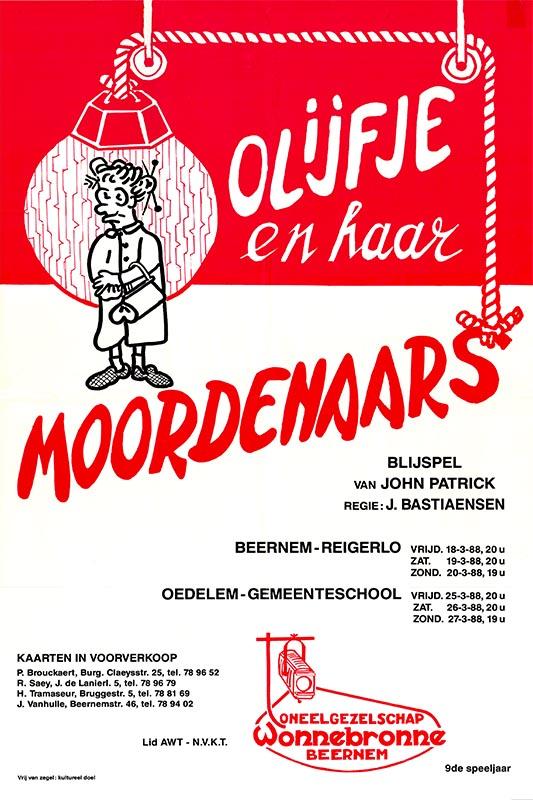 13_Affiche Olijfje en haar moordenaars_productie Wonnebronne_voorjaar 1988