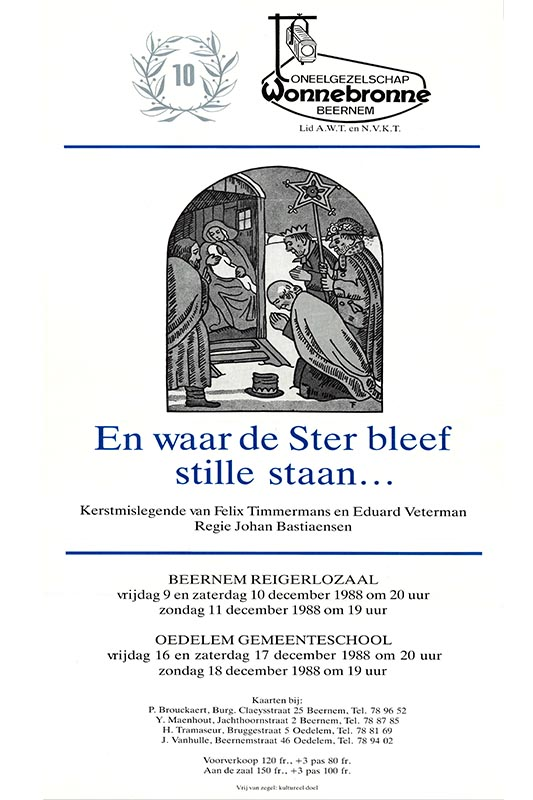 14_Affiche_En Waar de Ster Bleef Stille Staan_productie Wonnebronne_najaar 1988