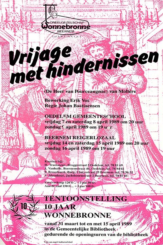 15_Affiche_Vrijage met Hindernissen_productie Wonnebronne_voorjaar 1989
