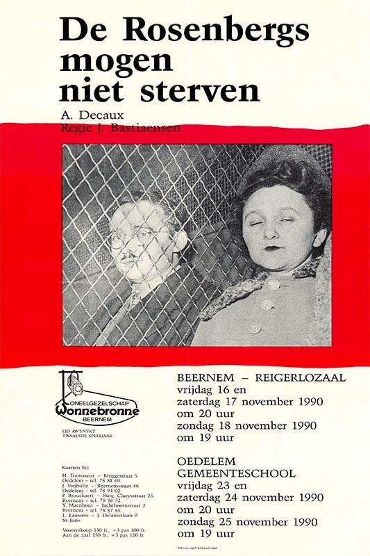 18_Affiche_De Rosenbergs mogen niet sterven_productie Wonnebronne_najaar 1990