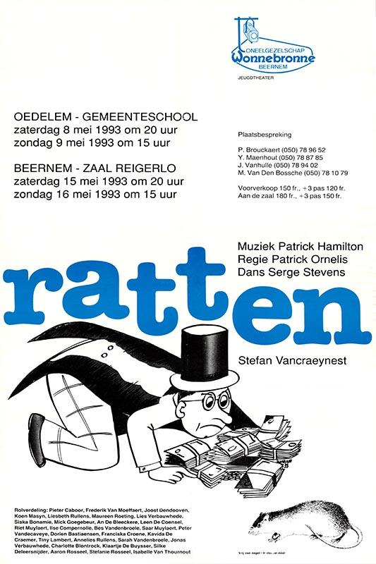 22_Affiche_Ratten_productie jeugdtoneel Wonnebronne_voorjaar 1993