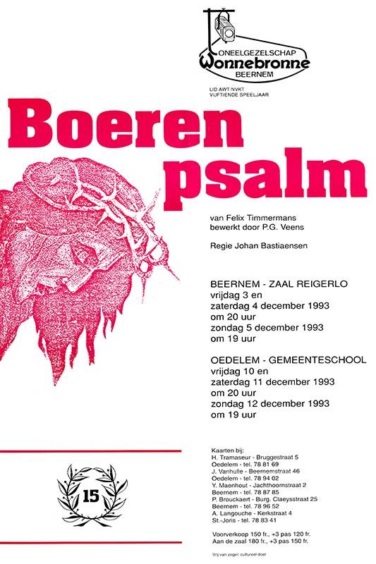 23_Affiche_Boerenpsalm_productie Wonnebronne_najaar 1993
