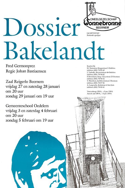 25_Affiche_Dossier Bakelandt_productie Wonnebronne_voorjaar 1995