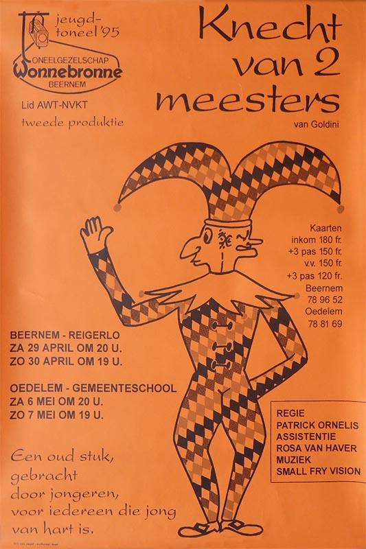 26_Affiche_Knecht van 2 meesters_productie jeugdtoneel Wonnebronne_voorjaar 1995