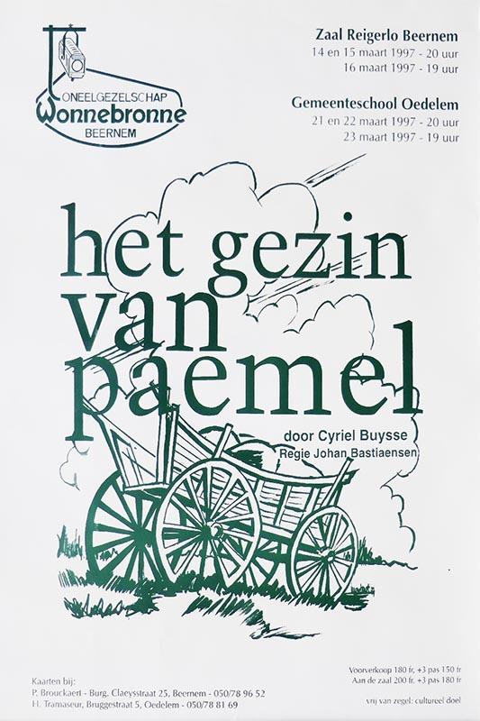 29_Affiche_Het gezin Van Paemel_productie Wonnebronne_voorjaar 1997