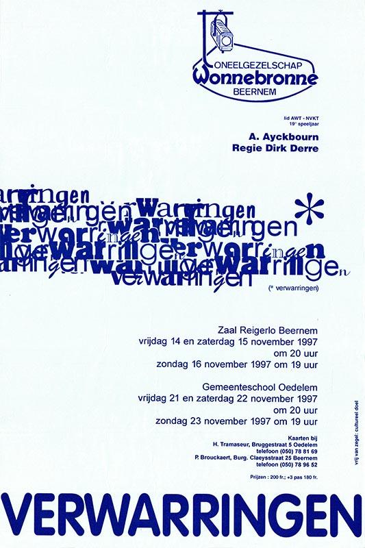 30_Affiche_Verwarringen_productie Wonnebronne_najaar 1997