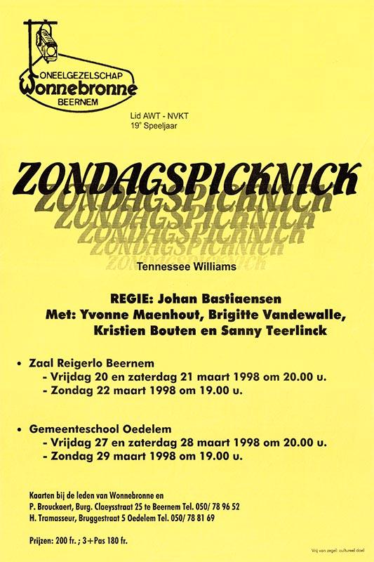 31_Affiche_Zondagspicknick_productie Wonnebronne_voorjaar 1998