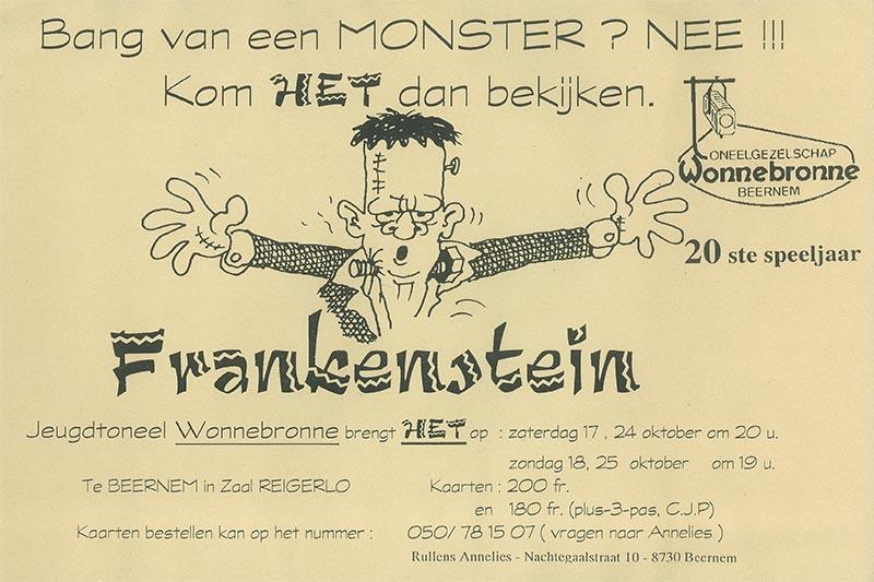 32_Affiche_Frankenstein_productie jeugdtoneel Wonnebronne_najaar 1998