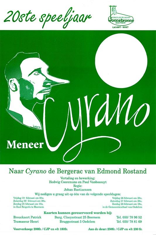 33_Affiche_Cyrano_productie Wonnebronne_voorjaar 1999