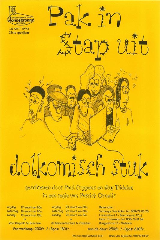 35_Affiche_Pak in Stap uit_productie Wonnebronne_voorjaar 2000