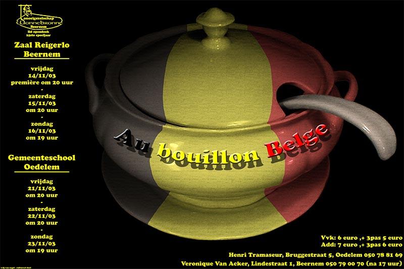 41_Affiche_Au bouillon Belge_productie Wonnebronne_najaar 2003