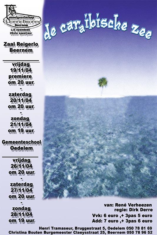 43_Affiche_De caraibische zee_productie Wonnebronne_najaar 2004