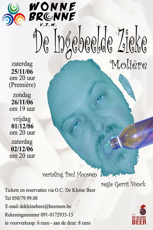 47_Affiche_De ingebeelde zieke_productie Wonnebronne_najaar 2006