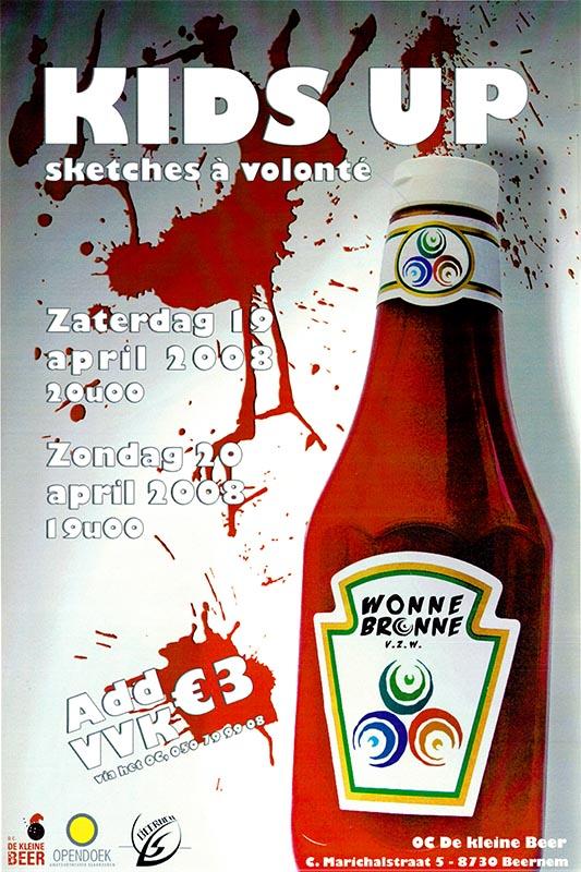 49_Affiche_Kids Up_productie jeugdtoneel Wonnebronne_voorjaar 2008