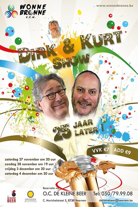 52_Affiche_Dirk en Kurt Show 25 jaar later_productie Wonnebronne_najaar 2010