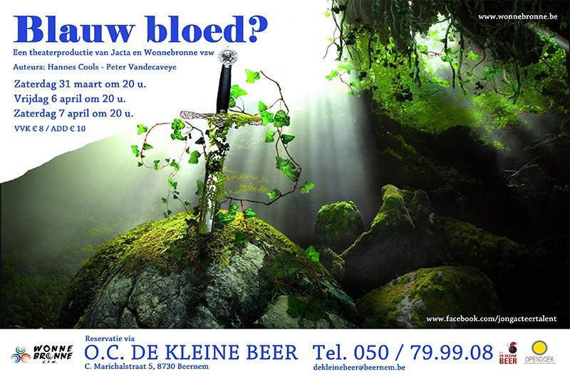55_Affiche_Blauw Bloed_productie Jacta! - Jongerenafdeling Wonnebronne_voorjaar 2012