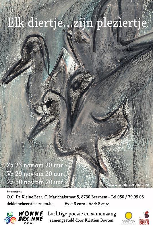 58_Affiche_Elk diertje zijn pleziertje_productie Wonnebronne_najaar 2013