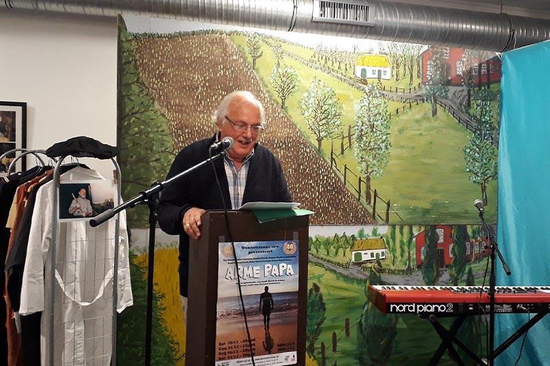Johan Bastiaensen op tentoonstelling 40 jaar Wonnebronne